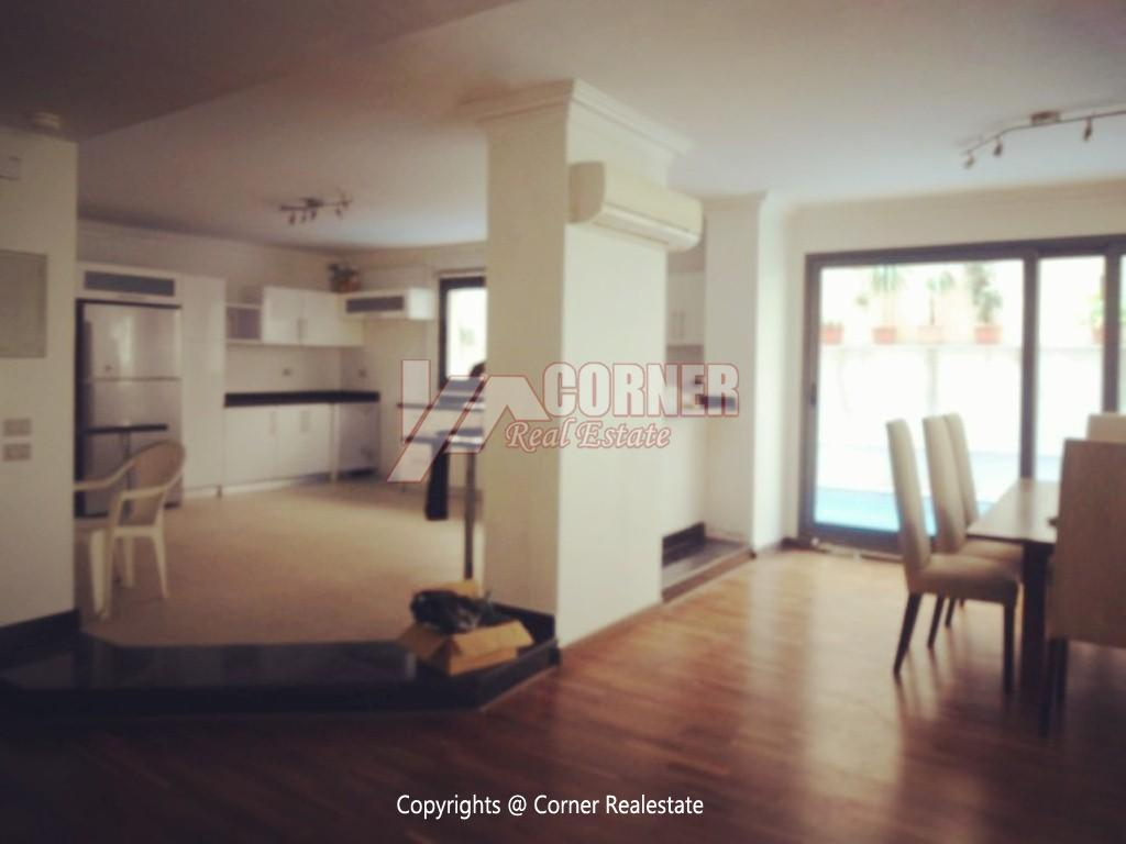 Ground Floor With Pool For Rent In Maadi ,Modern Furnished,Ground Floor NO #16