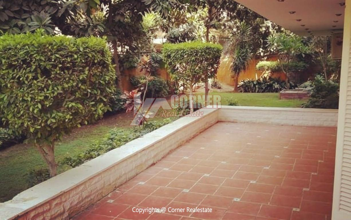 Ground Floor With Private Garden For Rent in Maadi,Semi furnished,Ground Floor NO #1
