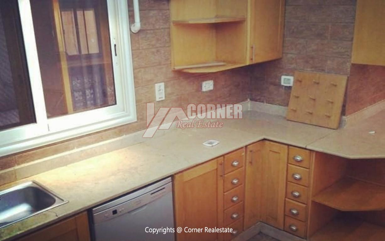Ground Floor With Private Garden For Rent in Maadi,Semi furnished,Ground Floor NO #17