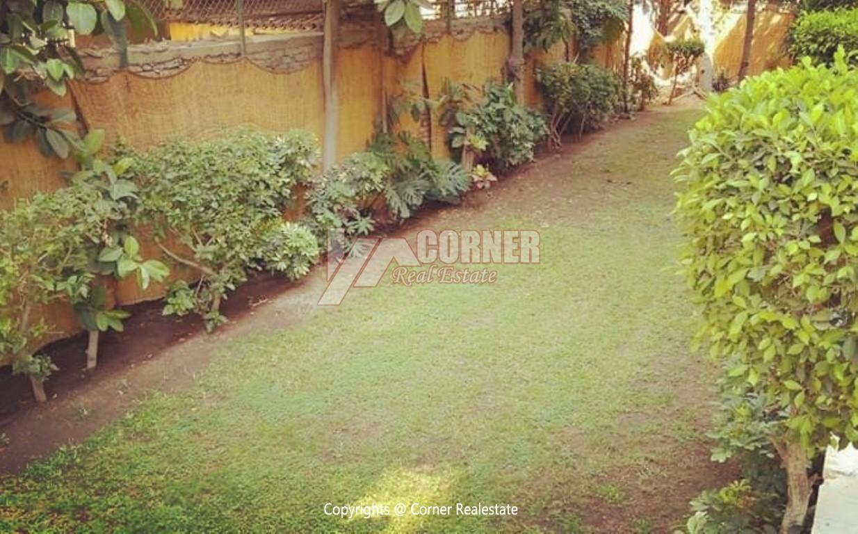 Ground Floor With Private Garden For Rent in Maadi,Semi furnished,Ground Floor NO #26