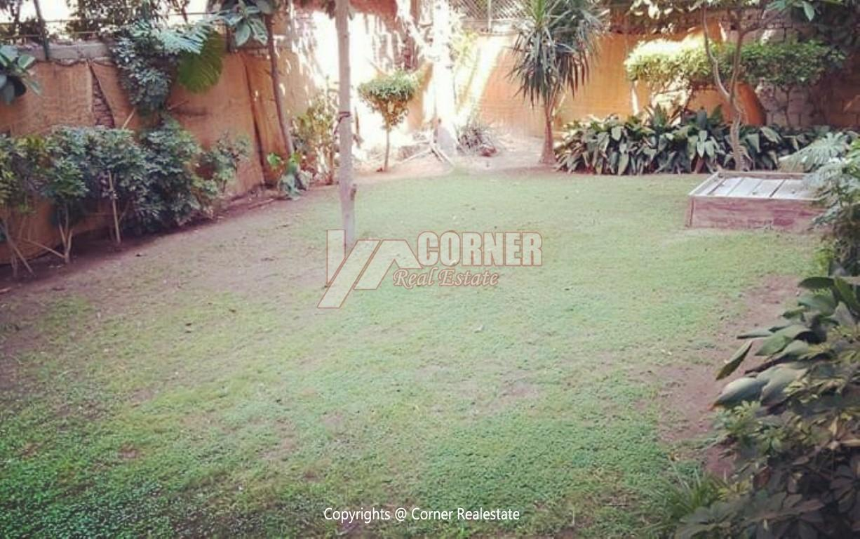 Ground Floor With Private Garden For Rent in Maadi,Semi furnished,Ground Floor NO #27
