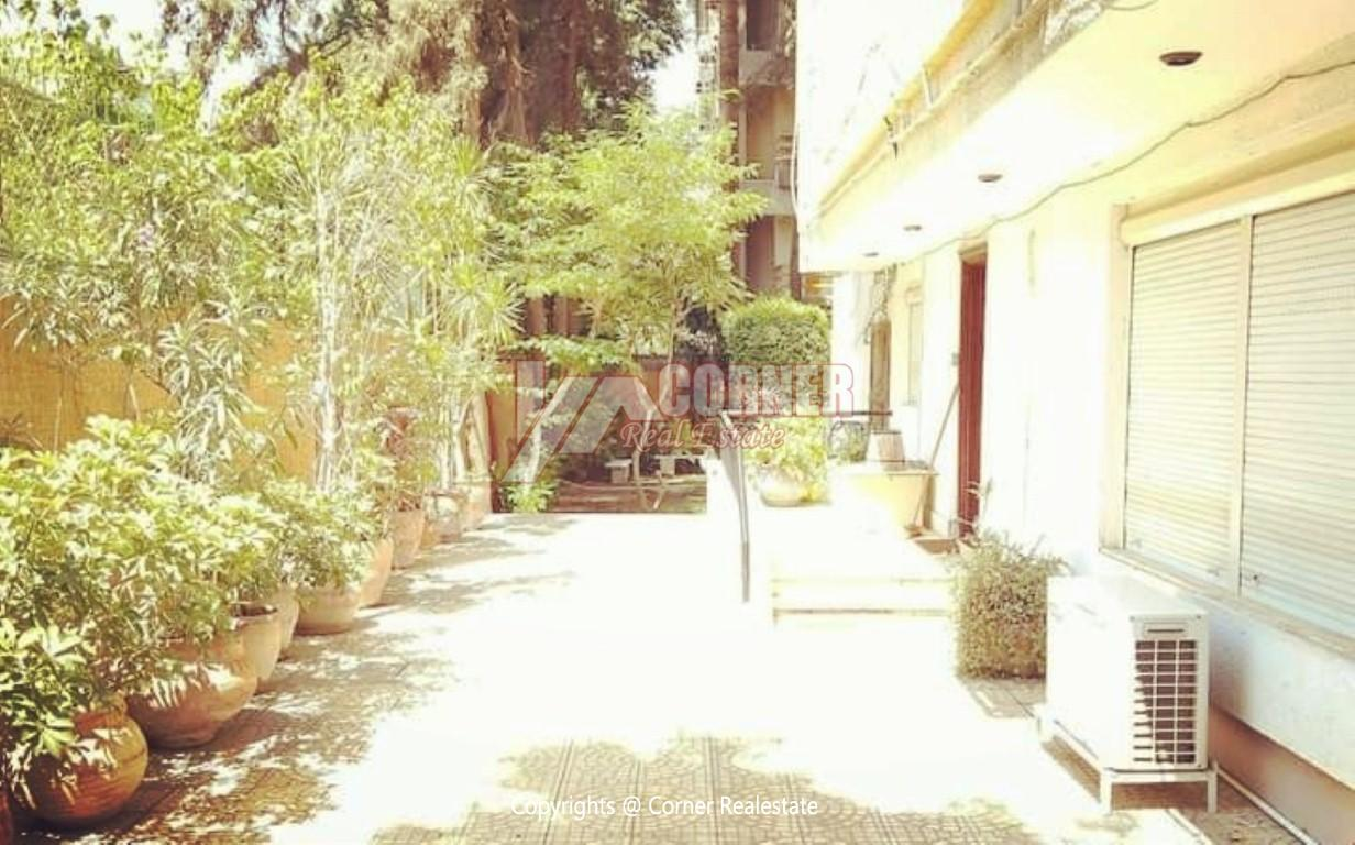 Ground Floor With Private Garden For Rent in Maadi,Semi furnished,Ground Floor NO #15