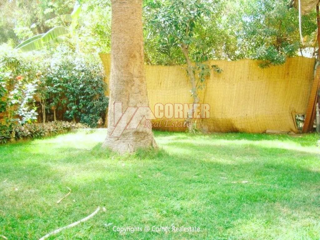Ground Floor With Private Garden For Rent in Maadi,Semi furnished,Ground Floor NO #2
