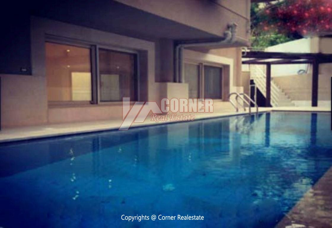 Ground Floor With Private Pool For Rent in Maadi,Semi furnished,Ground Floor NO #1