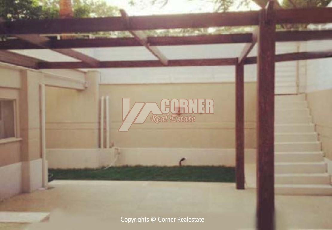 Ground Floor With Private Pool For Rent in Maadi,Semi furnished,Ground Floor NO #10