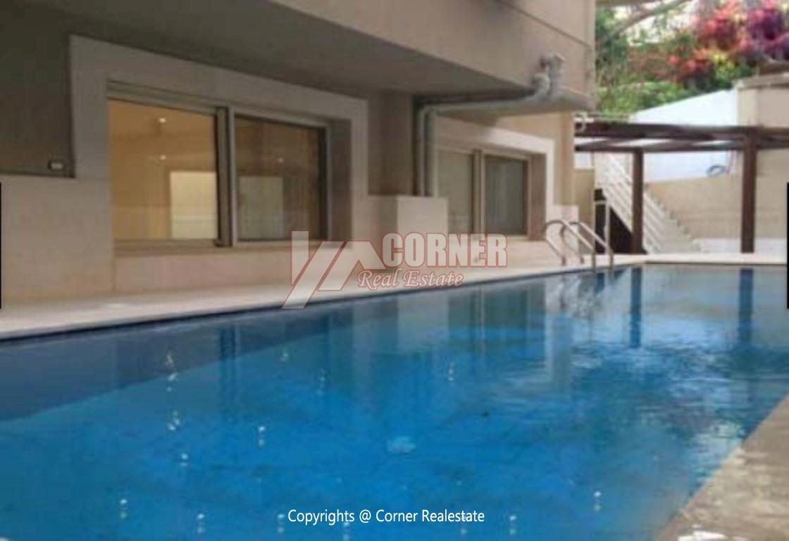 Ground Floor With Private Pool For Rent in Maadi,Semi furnished,Ground Floor NO #9