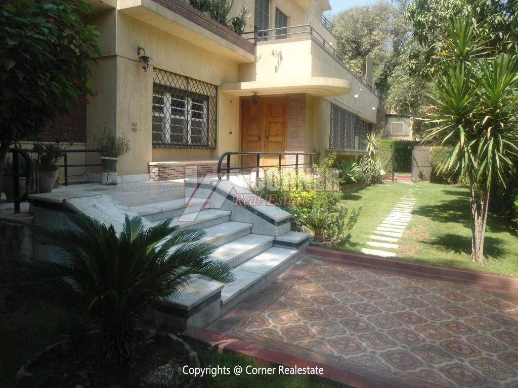 Ground Floor With Private Garden For Rent in Maadi,Semi furnished,Ground Floor NO #13