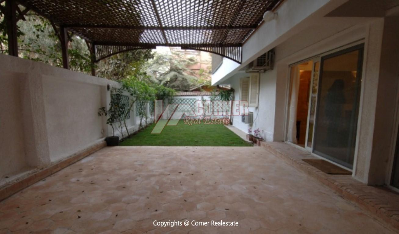 Ground Floor With Private Garden For Rent in Maadi
