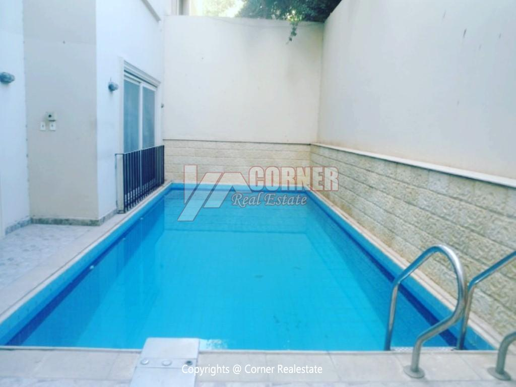 Ground Floor With Private Pool For Rent in Maadi