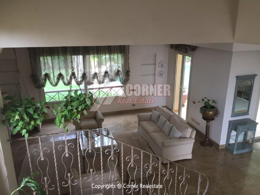 Duplex With Pool For Rent In Katameya Heights,Modern Furnished,Ground Floor NO #17