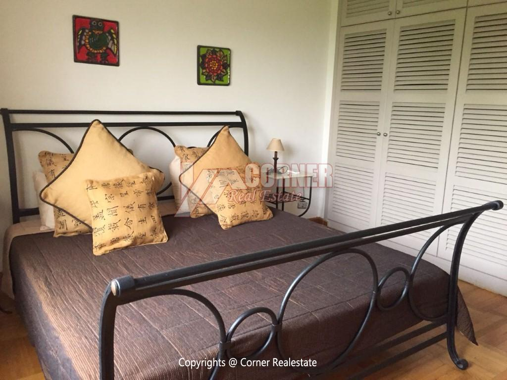 Duplex With Pool For Rent In Katameya Heights,Modern Furnished,Ground Floor NO #18