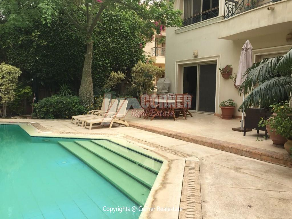 Duplex With Pool For Rent In Katameya Heights,Modern Furnished,Ground Floor NO #21