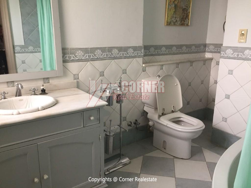 Duplex With Pool For Rent In Katameya Heights,Modern Furnished,Ground Floor NO #22