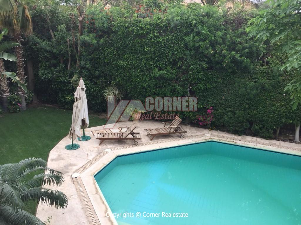 Duplex With Pool For Rent In Katameya Heights,Modern Furnished,Ground Floor NO #24