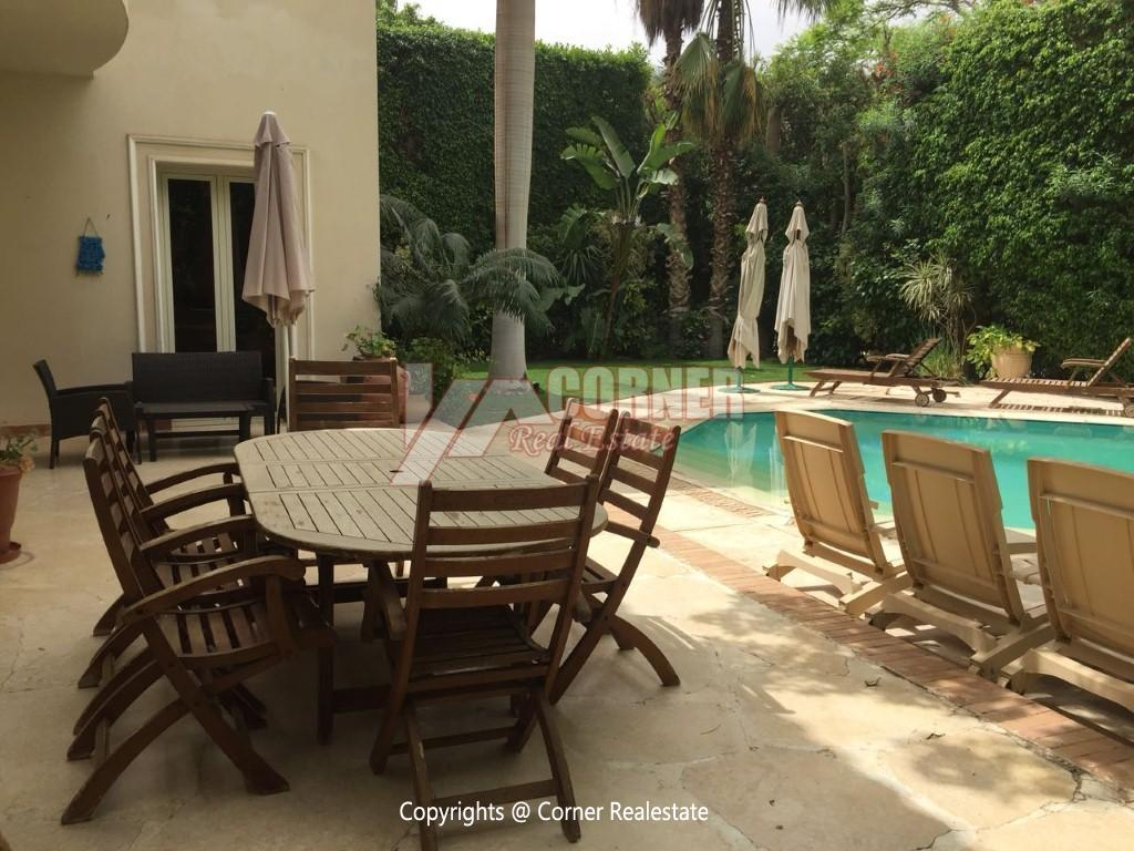 Duplex With Pool For Rent In Katameya Heights,Modern Furnished,Ground Floor NO #25