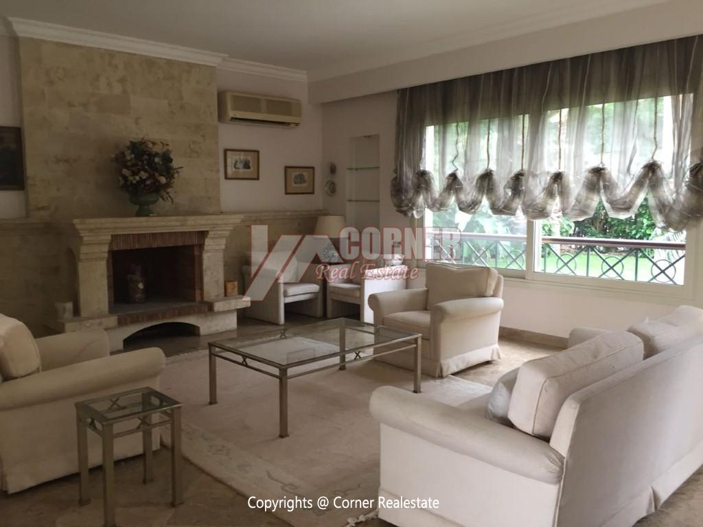 Duplex With Pool For Rent In Katameya Heights,Modern Furnished,Ground Floor NO #15