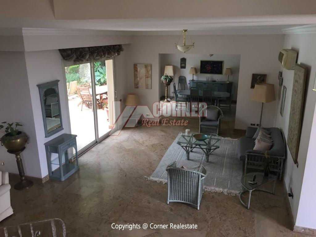 Duplex With Pool For Rent In Katameya Heights,Modern Furnished,Ground Floor NO #8