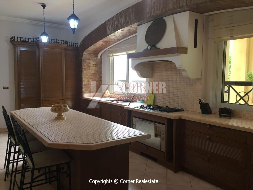 Duplex With Pool For Rent In Katameya Heights,Modern Furnished,Ground Floor NO #10