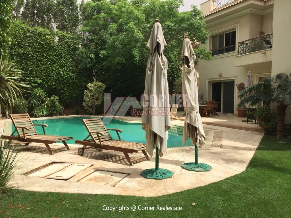 Duplex With Pool For Rent In Katameya Heights,Modern Furnished,Ground Floor NO #11