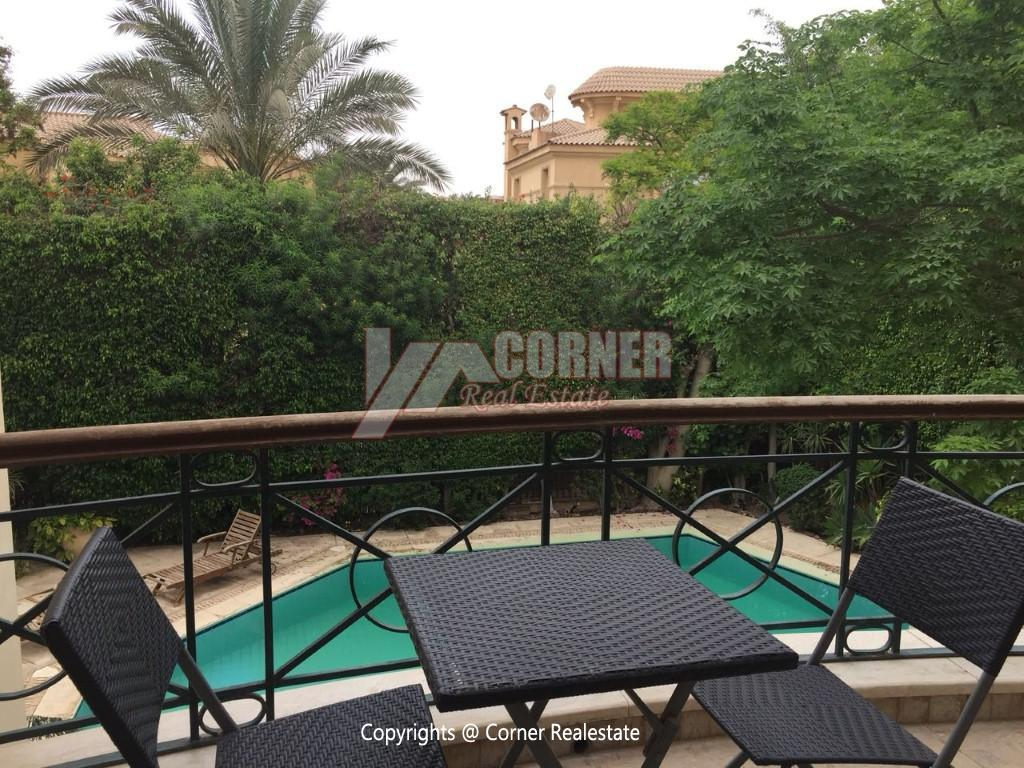 Duplex With Pool For Rent In Katameya Heights,Modern Furnished,Ground Floor NO #12