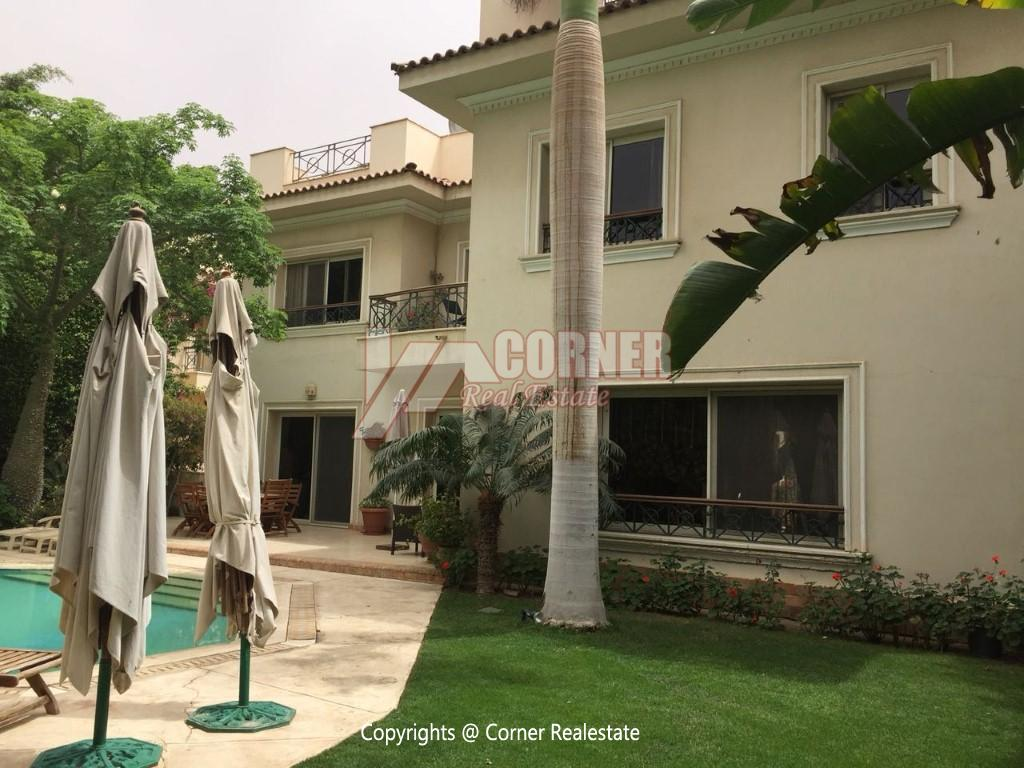 Duplex With Pool For Rent In Katameya Heights,Modern Furnished,Ground Floor NO #13