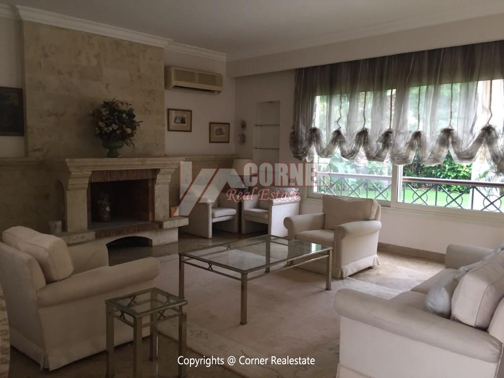 Duplex With Pool For Rent In Katameya Heights,Modern Furnished,Ground Floor NO #14