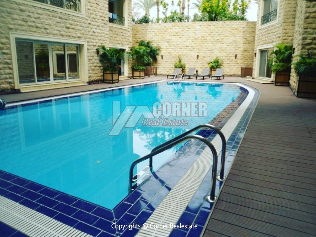 Ground Floor With Pool For Rent in Maadi