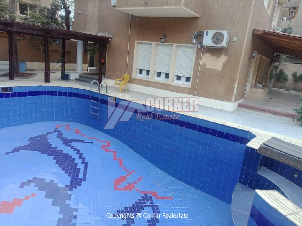 Villa With Swimming Pool For Rent In Maadi,Semi furnished,Villa NO #19