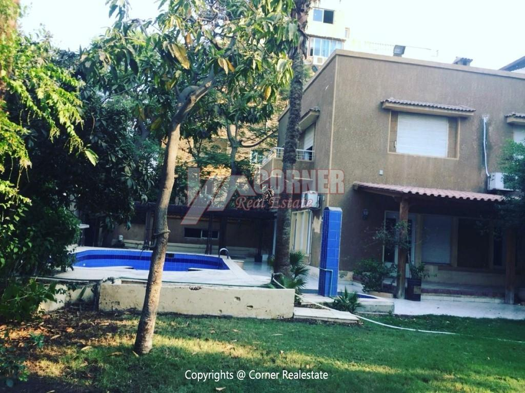 Villa With Swimming Pool For Rent In Maadi,Semi furnished,Villa NO #6