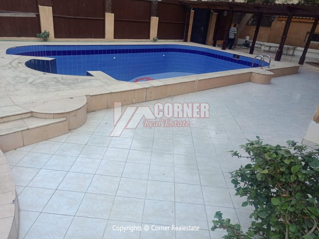 Villa With Swimming Pool For Rent In Maadi,Semi furnished,Villa NO #7