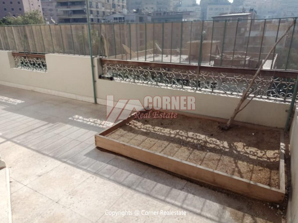 Roof Top For Rent In Maadi Degla,Semi furnished,Penthouse NO #18