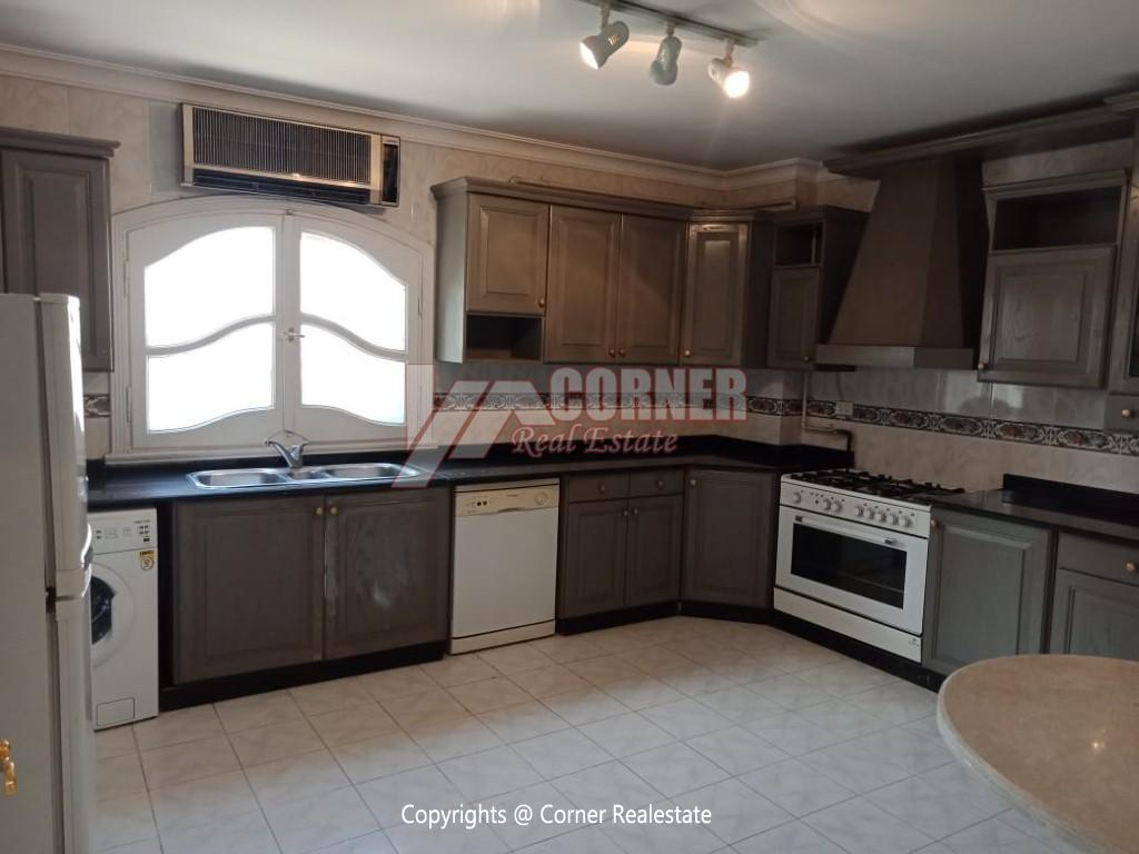 Roof Top For Rent In Maadi Degla,Semi furnished,Penthouse NO #26
