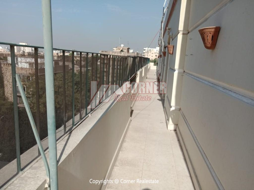 Roof Top For Rent In Maadi Degla,Semi furnished,Penthouse NO #4