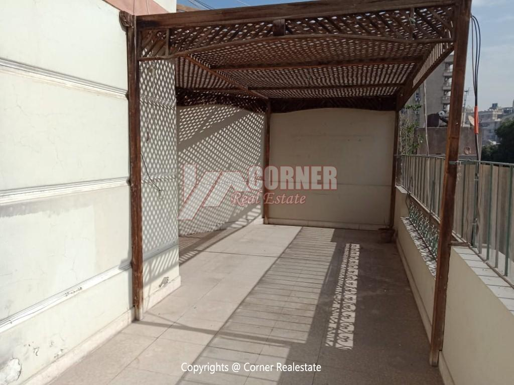 Roof Top For Rent In Maadi Degla,Semi furnished,Penthouse NO #10