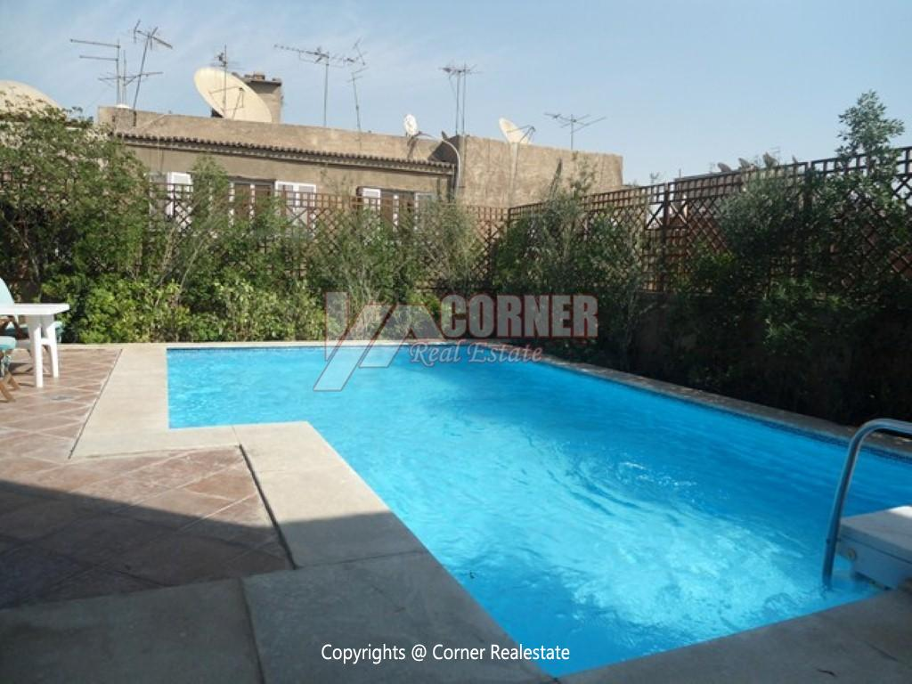 Penthouse For Rent In Maadi Degla,Semi furnished,Penthouse NO #14