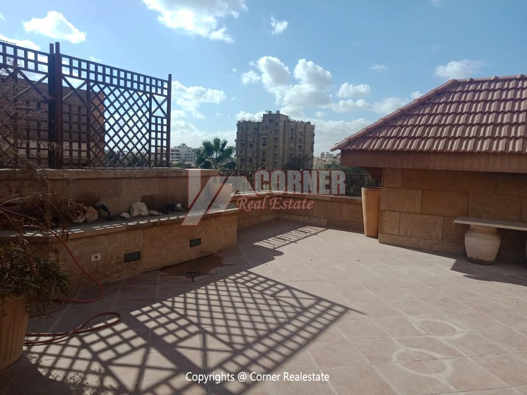 Penthouse For Rent In Maadi Degla,Semi furnished,Penthouse NO #24