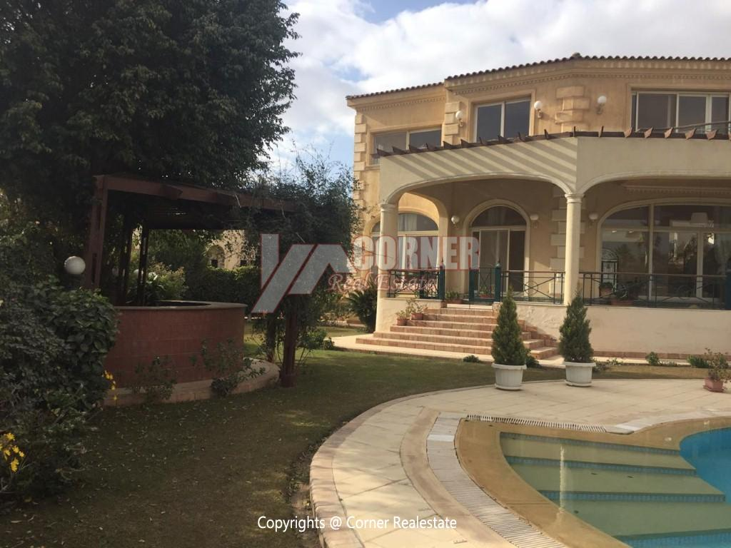 Villa For Rent In Katameya Heights,Semi furnished,Villa NO #12