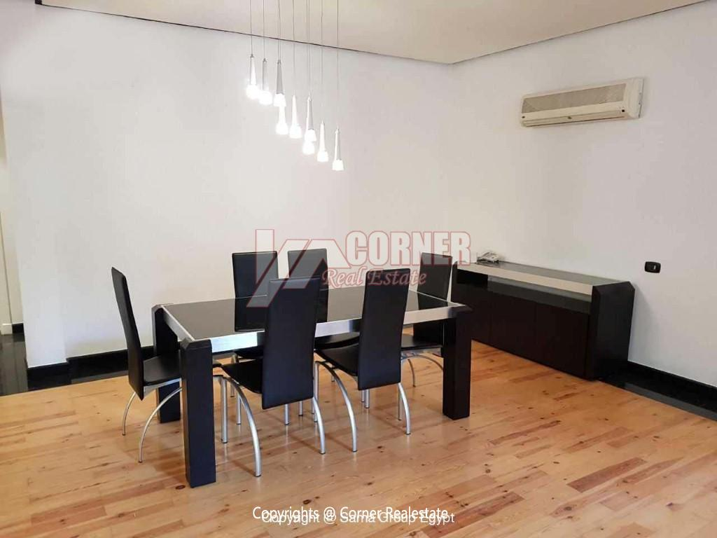 Ground Floor For Rent in Katameya Heights,Modern Furnished,Ground Floor NO #13
