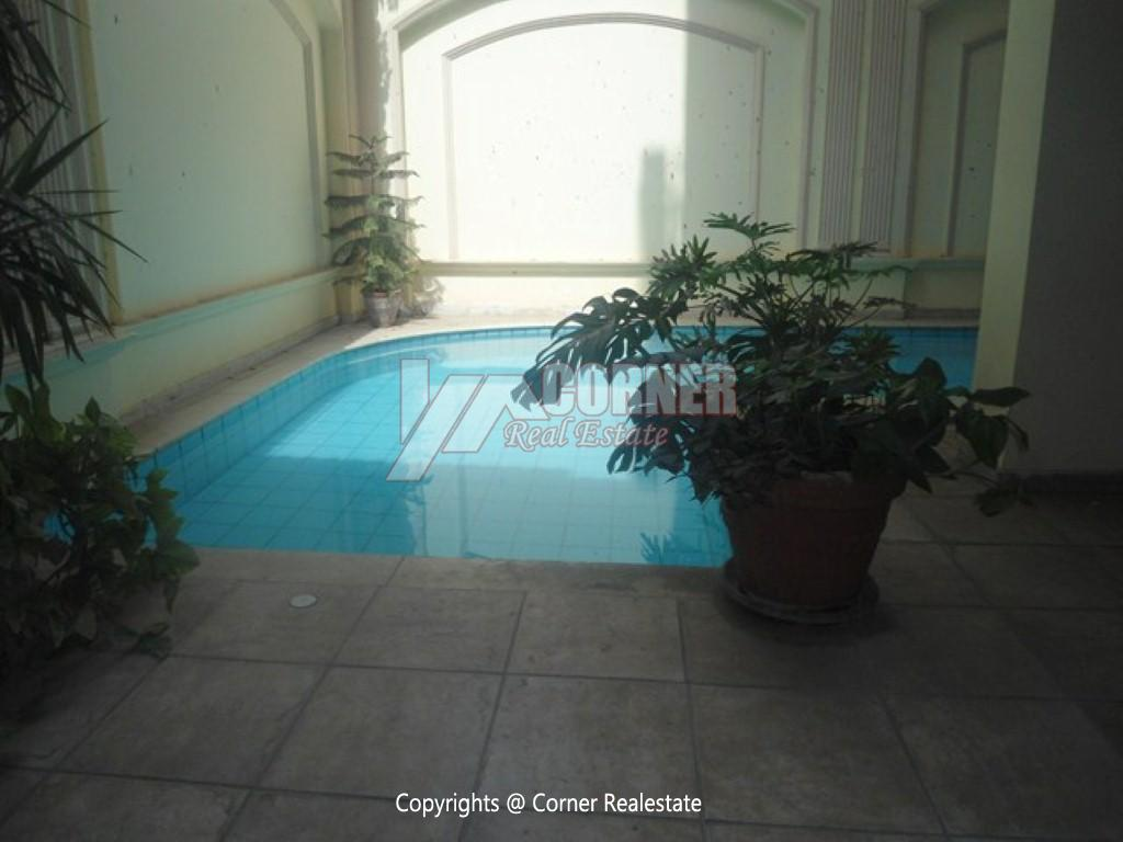 Ground Floor With Pool For Rent In Maadi,Semi furnished,Ground Floor NO #2