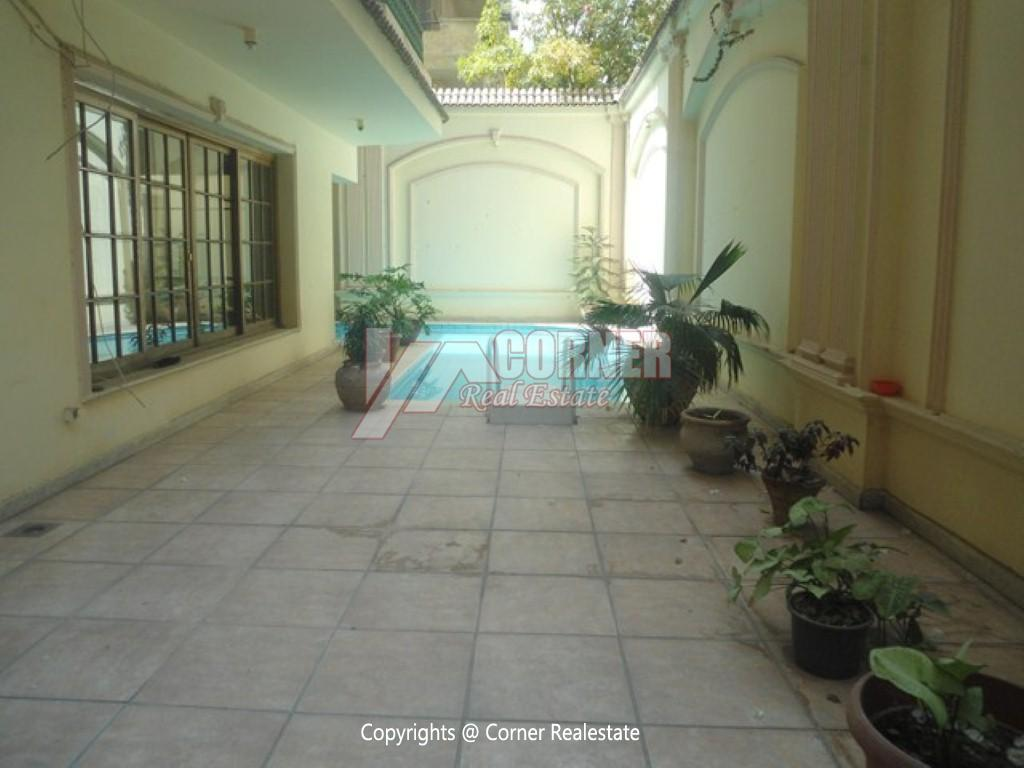 Ground Floor With Pool For Rent In Maadi,Semi furnished,Ground Floor NO #3