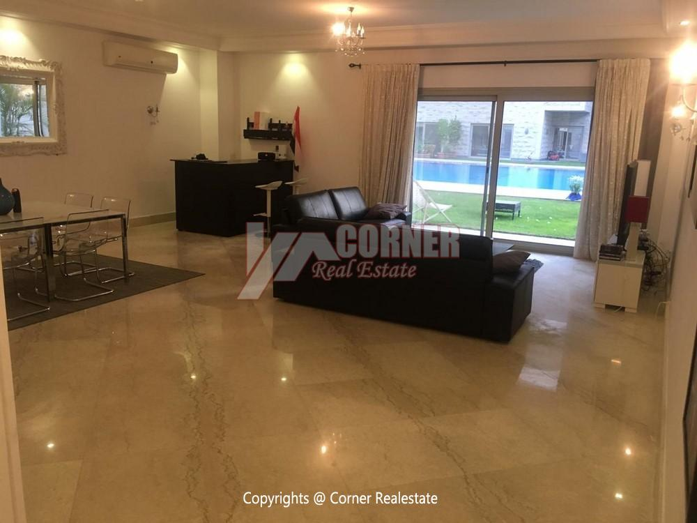 Ground Floor Apartment For Rent in Maadi,Semi furnished,Ground Floor NO #5