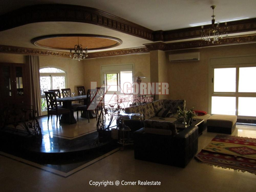 Ground Floor Duplex For Rent In West Golf New Cairo,Furnished,Apartment NO #12