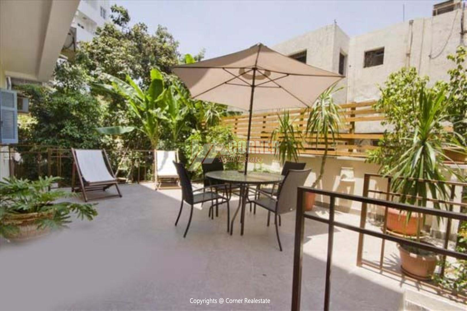 Ground Floor For Rent in Maadi Sarayat,Modern Furnished,Ground Floor NO #14