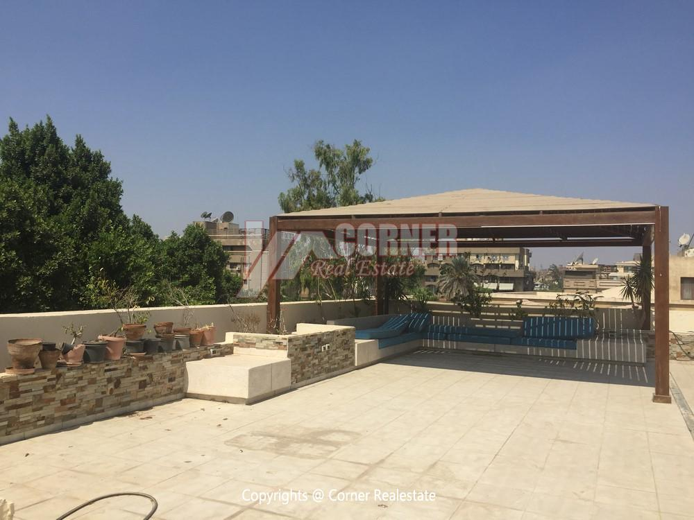 Penthouse For Rent In Maadi Sarayat,Semi furnished,Penthouse NO #15