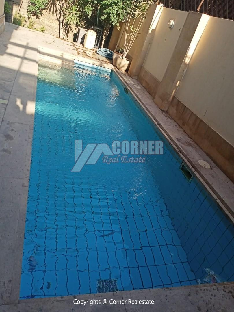 Ground Floor ًWith Private Swimming Pool For Rent in Maadi